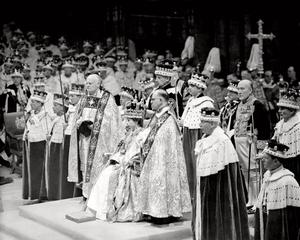 Royal engagement...File photo dated 02/06/53 of Queen Elizabeth II during her coronation in Westminster, London. PRESS ASSOCIATION Photo.