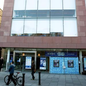 The Bank of Scotland (Ireland) Headquarters in Dublin as it is announced that 600 workers are to be laid off