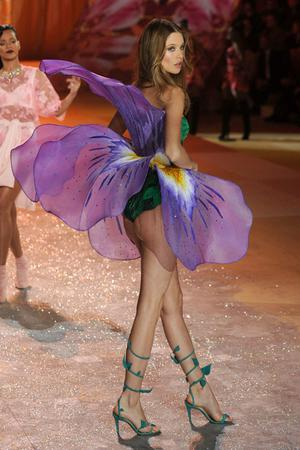 NEW YORK, NY - NOVEMBER 07:  Model Behati Prinsloo walks the runway during the Victoria's Secret 2012 Fashion Show on November 7, 2012 in New York City.  (Photo by Bryan Bedder/Getty Images for SWAROVSKI ELEMENTS)