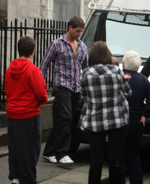 Keith Duffy of Boyzone leaving St Laurence O'Toole Parish church