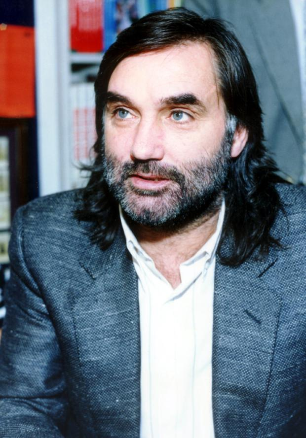 Football legend George Best pictured in 1990