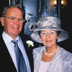 Alice Huyton, 75, who was found dead in a house in Merseyside, pictured here with her husband Jim