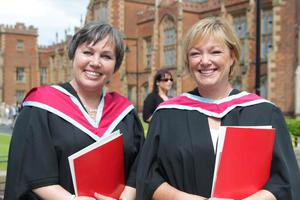Sharon Beattie and Pauline O'Hagan who gained an MSC