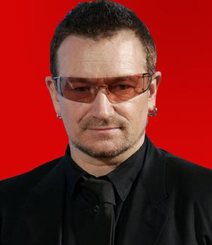 U2's Bono who launched RED to help fund AIDS programmes in Africa