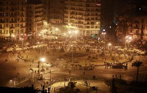 CAIRO, EGYPT - JANUARY 29:  Army tanks line up in Tahrir Square on January 29, 2011 in Cairo, Egypt.Thousands of police are on the streets of the capital. Hundreds of arrests have been made in an attempt to quell demonstrations.  (Photo by Peter Macdiarmid/Getty Images)