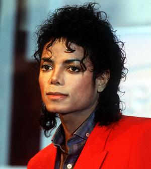 Singer Michael Jackson appears before the press in 1988 in New York.
