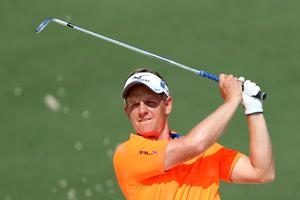 Luke Donald (pictured) are also in contention at Augusta