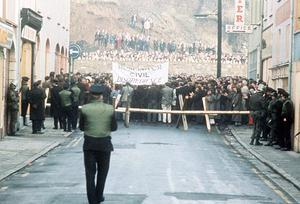 Bloody sunday in Derry 1972 when members of the parachute regiment opened fire on a banned Civil Rights march