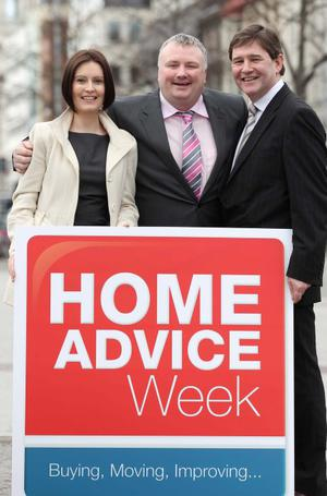 Emma McNally of propertynews.com, broadcaster Stephen Nolan and Pat Byrne of Bank of Ireland