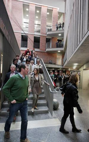 Crowds explore the various spaces of the MAC