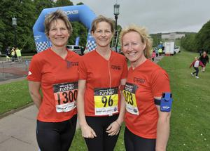 ©Russell Pritchard / Presseye  15th May 2011Belfast Telegraph Runher event at Stormont, Belfast.Nicola McDowell from Lisburn, Fiona Dickson from Moira and Jill Little from Belfast©Russell Pritchard / Presseye