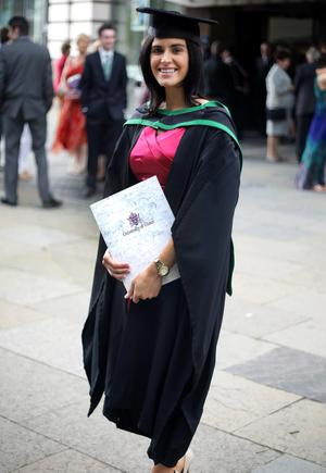 29.06.11. PICTURE BY DAVID FITZGERALDUniversity of Ulster Graduations at the Waterfront Hall, Belfast yesterday. Alison Brown who studied Planning and Property Development