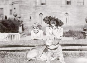 Previously unseen handout photograph of the Duchess of York with Princess Elizabeth and Glen, 1930. PRESS ASSOCIATION Photo.
