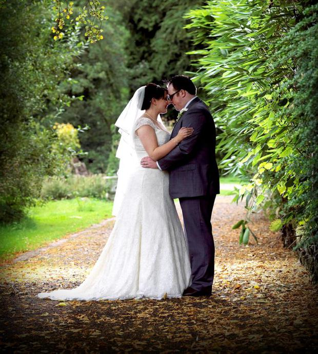 """Michael and Catherine McKay after tying the knot <p><b>To send us your Wedding Pics <a  href=""""http://www.belfasttelegraph.co.uk/usersubmission/the-belfast-telegraph-wants-to-hear-from-you-13927437.html"""" title=""""Click here to send your pics to Belfast Telegraph"""">Click here</a> </a></p></b>"""