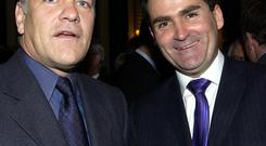 Former Sky Sports presenters Andy Gray, left, and Richard Keys