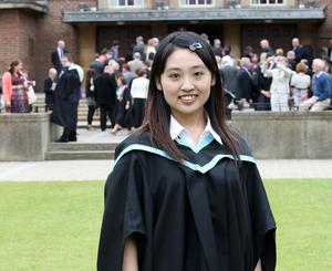 Graduations at Queen's University in Belfast.  Yifang Yin who graduated with a BSc in Finance.