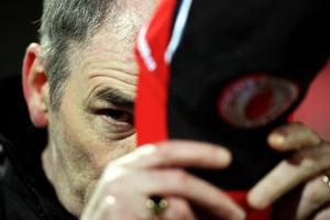 Fermanagh v Tyrone at Brewster Park. Tyrone manager Mickey Harte before the game.