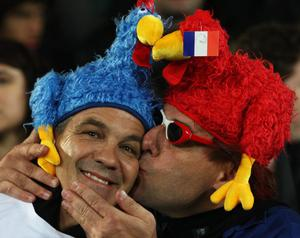 AUCKLAND, NEW ZEALAND - SEPTEMBER 24:  France fans soak up the atmosphere prior to the IRB 2011 Rugby World Cup Pool A match between New Zealand and France at Eden Park on September 24, 2011 in Auckland, New Zealand.  (Photo by Sandra Mu/Getty Images)