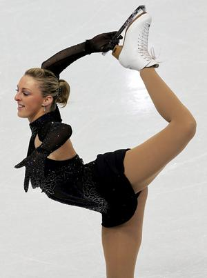 Northern Ireland's Jenna McCorkell pictured during her Olympic Figure Skating short programme during the 2010 Vancouver Winter Olympics at the Pacific Coliseum.