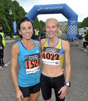 ©Russell Pritchard / Presseye  15th May 2011Belfast Telegraph Runher event at Stormont, Belfast.1st and second in the 10K Cathy McCourt and Julie Balmer©Russell Pritchard / Presseye
