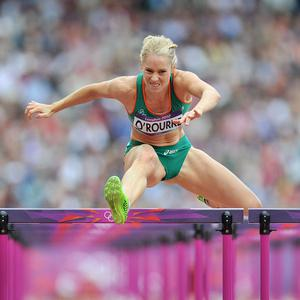 Derval O'Rourke clocked a season's best of 12.91 seconds to finish fourth