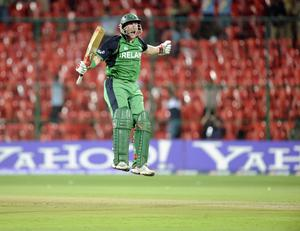 Ireland  beat England in g the ICC Cricket World Cup match at the at M Chinnaswamy Stadium, Bangalore, India