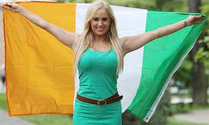 Republic of Ireland football fan Laura Carroll from Navan in Gdansk, Poland before the UEFA Euro 2012, Group C match against Spain