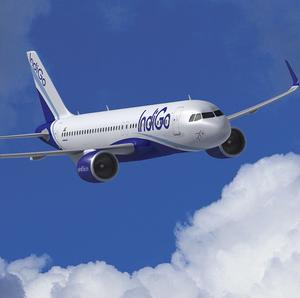 A computer image provided by Airbus shows a A320neo jet in IndiGo livery (AP)