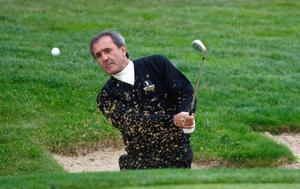 (FILE PHOTO)  Spanish Golf Legend Seve Ballesteros Dies At 54.Charismatic former World No. 1, five time Major winner, five time Ryder Cup winner, both as a player and as captainand winner of the European Tour's Order of Merit on six occasions.http://www.gettyimages.co.uk/Search/Search.aspx?EventId=113809426 KILLENARD, IRELAND - SEPTEMBER 26:  Seve Ballesteros, Captain of The European Team, plays a bunker shot during the Pro-Am for the Seve Trophy 2007 held at The Heritage Golf and Country Club on September 26, 2007 in Killenard, Ireland.  (Photo by Stuart Franklin/Getty Images)