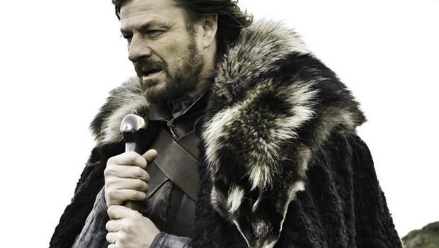 Sean Bean playing Eddard Stark in the HBO production of Game of Thrones, which created 800 jobs in Northern Ireland