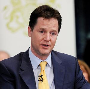 Nick Clegg urged young people to 'go for it' as he took part in a student careers advice meeting in London