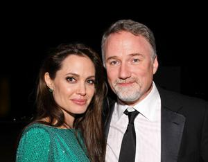 BEVERLY HILLS, CA - JANUARY 16:  Actress Angelina Jolie and director David Fincher attend the Sony Pictures Classic 68th Annual Golden Globe Awards Party held at The Beverly Hilton hotel on January 16, 2011 in Beverly Hills, California.  (Photo by Neilson Barnard/Getty Images)