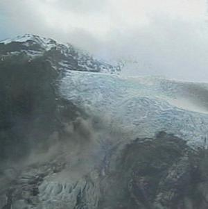 The crater of the Iceland volcano, which erupted for the second time in a month. (AP)