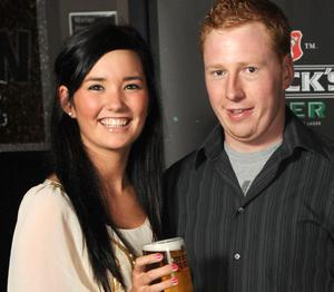 Amy Lamont and Aaron Small pictured at the launch of Beck's Vier Music Inspires Art.