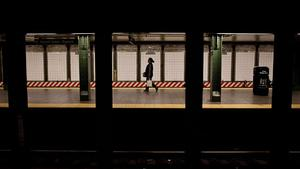 NEW YORK, NY - OCTOBER 28:  A woman walks through the New York subway prior to the arrival of Hurricane Sandy on October 28, 2012 in New York City. New York plans on shutting down the entire public transmit system starting at 7PM, Sunday night. Sandy, which has already claimed over 50 lives in the Caribbean, is predicted to bring heavy winds and floodwaters as the mid-atlantic region prepares for the damage.  (Photo by Andrew Burton/Getty Images)