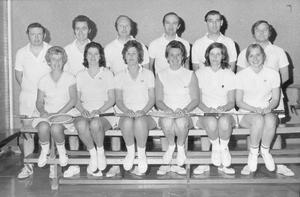 Over the years the Ballymena Academy Old Pupils have played the school at a variety of games, including hockey, rugby and cross-country. This year for the first times they met at badminton in a special challenge match in the school gym, 1974.