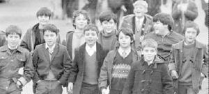 These boys have a good reason to look happy as they stride along-every step means money. They were some of the 750 pupils of Dunlambert Boys' Secondary School, Belfast, who took part in a part in a 10-mile sponsored walk. They were raising the money to buy a mini-bus for the school, 1971