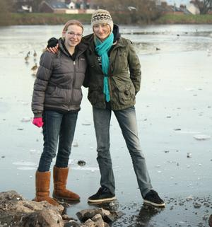 Anna and Amy Smith on the ice at the Waterworks. Submitted by Mary Torney, Belfast