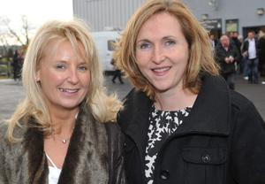 Enjoying a day out at Down Royal Racecourse - Nichola Allen and Cliona McCotter