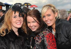 Enjoying a day out at Down Royal Racecourse - Roisin Hunt , Noreen Feeny and Catheryn Feeny