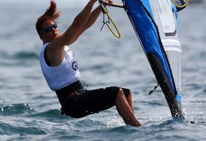 Bryony Shaw of Great Britain in action during training at the Weymouth & Portland Venue ahead of the London 2012 Olympic Games