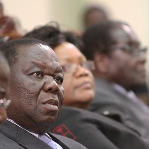 Zimbabwe's Prime Minister Morgan Tsvangirai who has ended his relationship with a woman claiming it was a political 'sting' set up (AP)