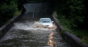 27.06.12. PICTURE BY DAVID FITZGERALDFlooding in Lambeg last night.