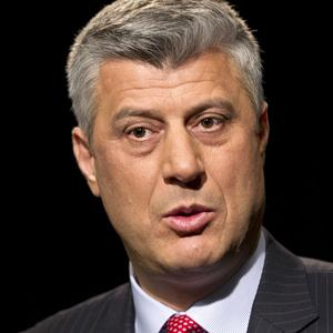 Kosovo's Prime Minister Hashim Thaci said he would never consider a territorial swap with Serbia (AP)