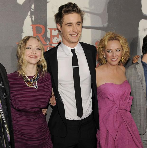 Max Irons steps out with the cast of Red Riding Hood