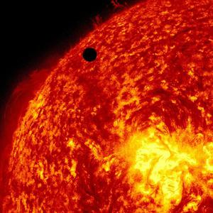 The Solar Dynamic Observatory's view of Venus passing in front of the sun (AP/Nasa/Solar Dynamic Observatory)