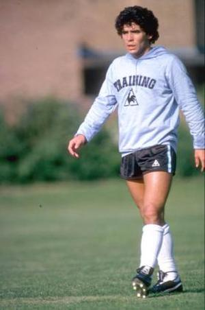 <br /><b>Diego Maradona</b><br /> It's quite possible that Ronaldo styled himself on a certain Argentinean