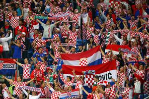 POZNAN, POLAND - JUNE 10:  Croatian fans soak up the atmopshere during the UEFA EURO 2012 group C between Ireland and Croatia at The Municipal Stadium on June 10, 2012 in Poznan, Poland.  (Photo by Christof Koepsel/Getty Images)