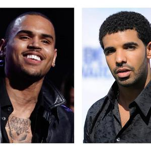 Chris Brown, left, and Drake face legal action over a New York nightclub brawl (AP)