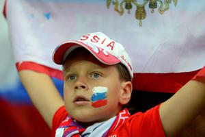 WARSAW, POLAND - JUNE 12:  A football fan looks on during the UEFA EURO 2012 group A match between Poland and Russia at The National Stadium on June 12, 2012 in Warsaw, Poland.  (Photo by Shaun Botterill/Getty Images)